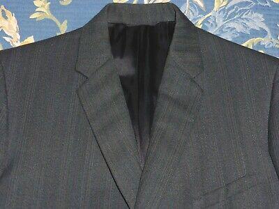 Montague Burton Pin Stripe Poly Tweed Suedehead Mod Suit 1970 1960s Vintage 38 S-mostra Il Titolo Originale Valore Eccezionale