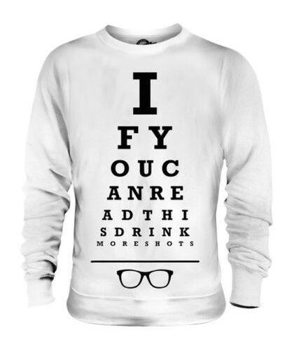 Usted Necesita más Tomas Unisex Suéter Regalo Top Divertido Ojos Test