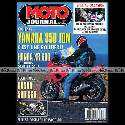 Doelstelling Moto Journal N°976 Yamaha 850 Tdm Honda Xr 600 Nsr 500 Wayne Gardner Touquet '91