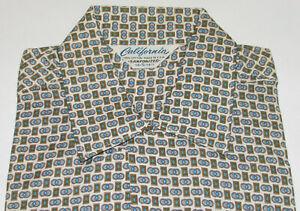 VTG 1960s unbenutzt California Shirt! ausgewaschenes/Kurzarm/Loop Kragen/Pocket S
