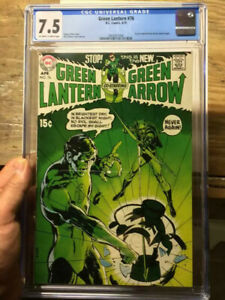 Green-Lantern-76-CGC-7-5-OW-W-Social-Justice-Storyline-Bronze-Age-Begins