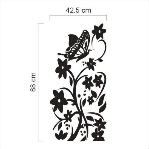 Removable Waterproof Wall Sticker Butterfly Flower Vine Fridge Decal Sticker New