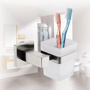 Bathroom-Glass-Toothbrush-Tumbler-Holder-Square-304-Stainless-Steel-Accessories