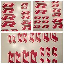 8pc 2015 Gloss Red VW Golf R  Brake Caliper Vinyl Sticker Decal Logo Overpay