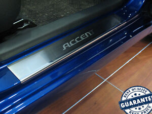 Hyundai-Accent-Verna-2011-Stainless-Steel-Door-Sill-Covers-Scuff-Protector