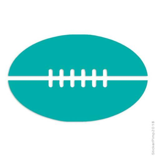 Football Sport Decal Sticker Choose Color Size #3143