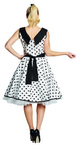50er Jahre Kleid Rock n Roll Rockabilly Polka Dress