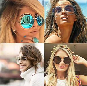 montura-metalica-doble-RIM-Mujer-orversized-Redondo-Gafas-Sol-Lente