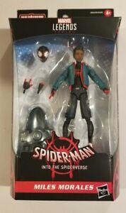 MILES MORALES INTO THE SPIDER-VERSE Marvel Legends Spider-Man Stilt-Man BAF