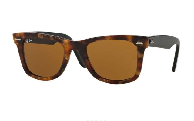 7bc81219fa Ray-Ban Original Wayfarer Distressed Black Tortoise   Brown Rb2140 1187 50mm