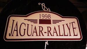 Jaguar Rallye 1998 Blechschild