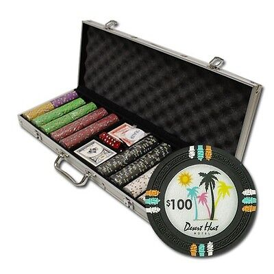 New 750 Desert Heat 13.5g Clay Poker Chips Set with Aluminum Case Pick Chips!