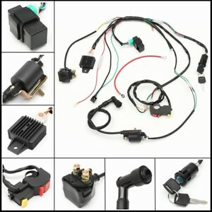 50-70-90cc-110cc-125cc-Wiring-Harness-Loom-Solenoid-Coil-CDI-Quad-Dirt-Bike-ATV
