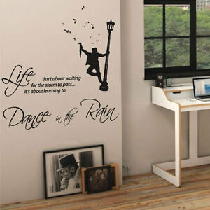 Dance in the Rain Music Art Wall Quote Stickers Wall Decals Words Lettering p1 - <span itemprop='availableAtOrFrom'>london, United Kingdom</span> - We are happy to exchange or refund your purchases as long as they are returned within 7 days of receiving. Items should be returned in the original packaging & condition. - <span itemprop='availableAtOrFrom'>london, United Kingdom</span>