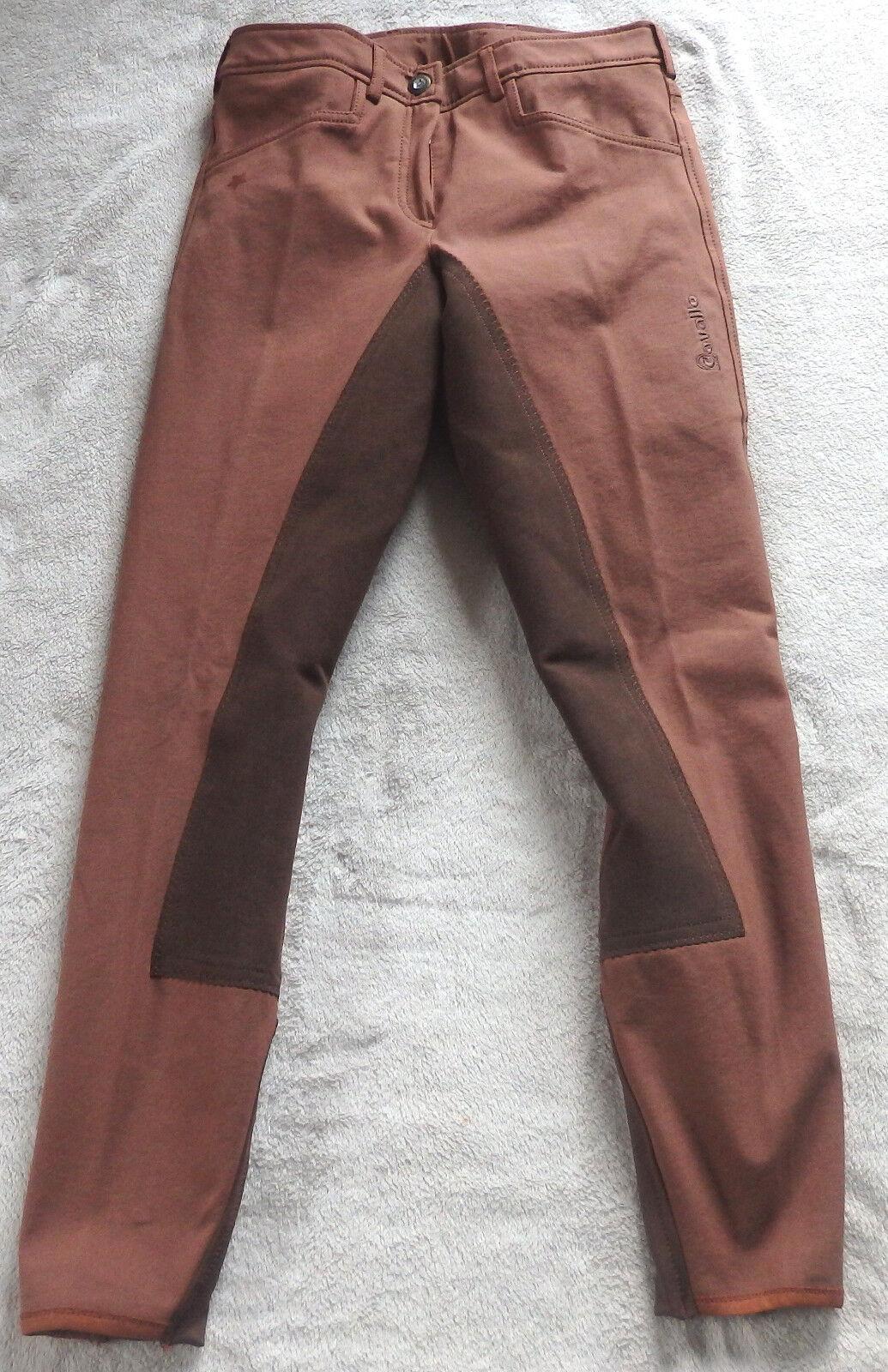 Cavallo Donna Pantaloni Montala CIVA con 3 4 guarnizione in pieno, rosse-Marroneei, tg. 36, (5579)