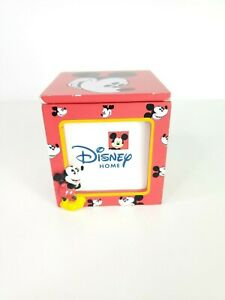 Enesco-Disney-Home-3-034-x-3-034-Photo-Picture-Cube-Mickey-Mouse-Trinket-Box-Frame