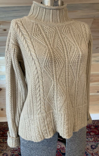 Inis Meain BABY ALPACA & SILK Pullover Cable Knit