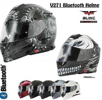 mit Bluetooth-Funktion V271 BLINC VCAN Motorrad-Klapphelm in vielen Farben erh/Ã/ƒ/â/'/¬ltlich
