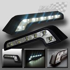 x2 DAYTIME RUNNING LIGHTS UNIVERSAL DRL LED WHITE LIGHT FORD