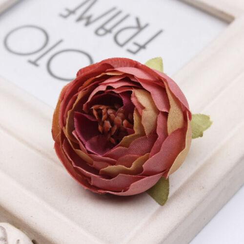 Fashion 3D Artificial Fake Camellia Rose Flower Head Wedding DIY Decor Flowers