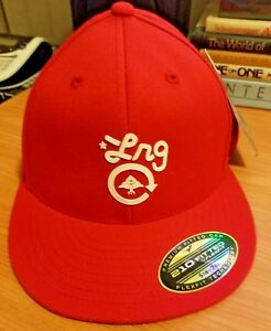 b37141115c7 LRG Lifted Research Group Fitted Hat New Era 59 Fifty Cap Red NWT ...