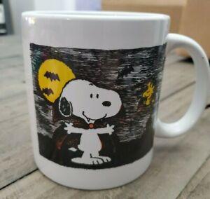 Snoopy Dracula Peanuts Halloween Great Pumpkin Ceramic Coffee Tea Mug Cup New