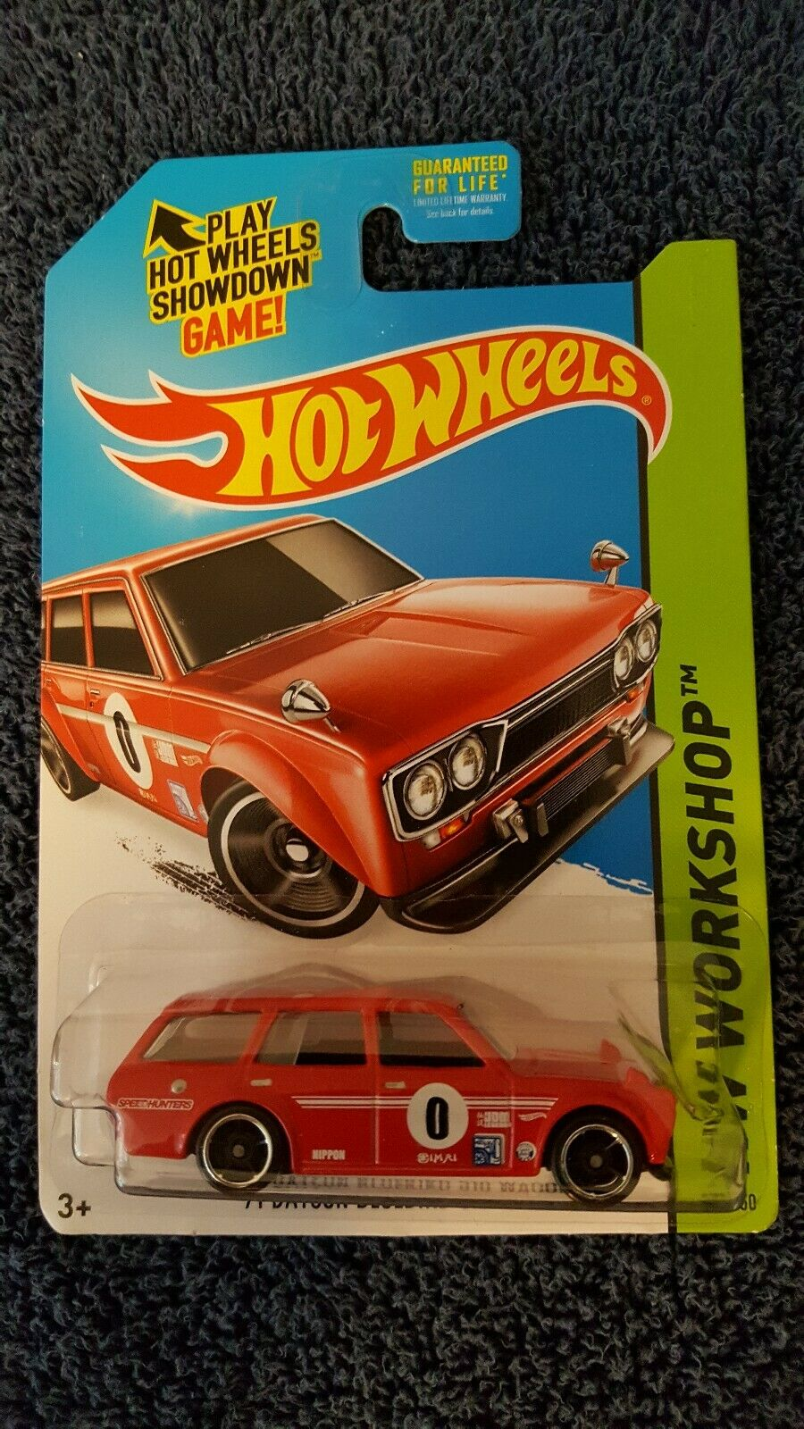 Hot Wheels'71 DATSUN bleubird RARE Wheels variation très difficile à trouver. JDM.
