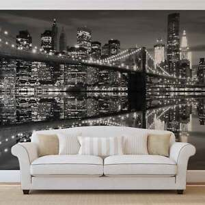 Foto Murales New York.Dettagli Su Murale Parete Foto Carta Da Parati Xxl New York City Skyline Brooklyn Bridge 1819ws Mostra Il Titolo Originale