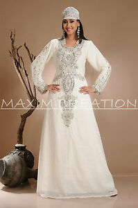 Details About Royal Dubai Very Fancy Eid Kaftan Abaya Ladies Maxi Dress Wedding Gown 3837