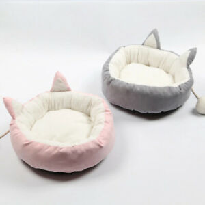 Pet-Cat-Dog-Round-Bed-Cute-Cat-Ears-Nest-Soft-Warm-Washable-Cushion-All-Seasons