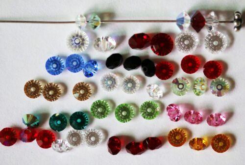 6 mm beaucoup de précautions couleurs! 20 X Swarovski Vintage #5305 soucoupe Blotter Perles 5 mm