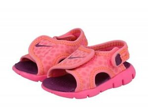 706863401d3b Nike Sunray Adjust Water Shoes Sandals Pink Berry Orange Little ...