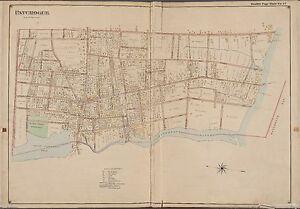 1770 PA MAP Verona Walnutport Weatherly Wellsboro Old Pennsylvania History HUGE