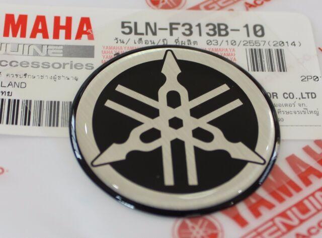 1 X Yamaha 45mm 3d Embossed Plastic Tuning Fork Black Silver Decal Emblem Badge For Sale Online Ebay