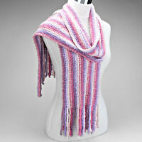Purple And Pink Multi Striped Super Soft Scarf