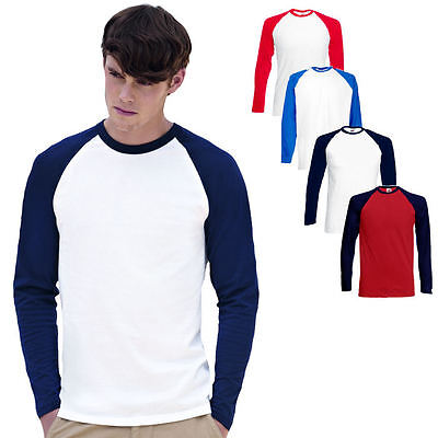 Fruit of the Loom Herren Langarm T-Shirt Longsleeve Shirt I S M L XL XXL