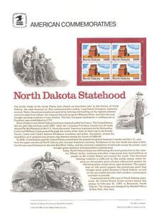 #323 25c North Dakota Statehood #2403 USPS Commemorative Stamp Panel