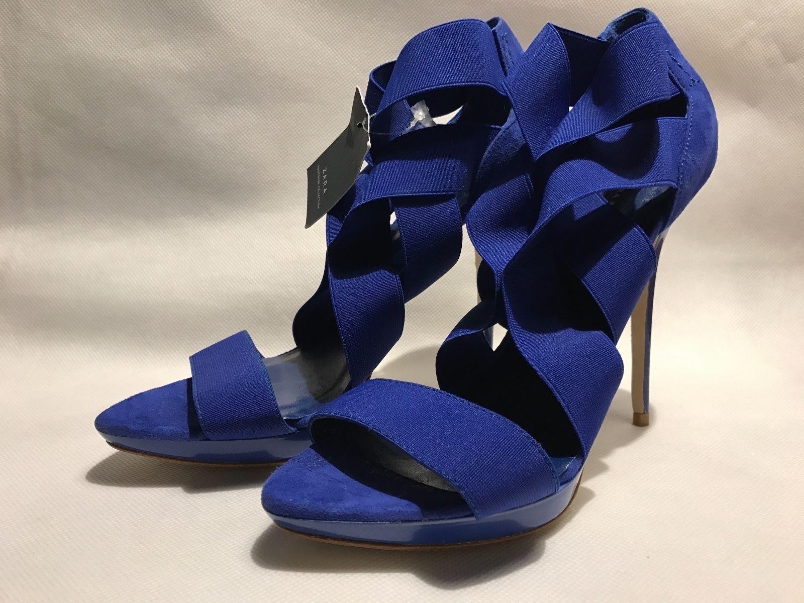 ZARA damen Damen Schuhe Pumps mit  mit dehnbaren Riemchen  Größe  40 NEU