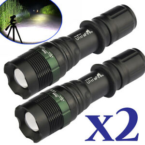 2X-99000-Lumens-Zoomable-T6-5-Modes-LED-Flashlight-Torch-Tactical-Light-Aluminum