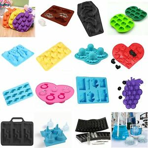 Silicone-Ice-Cube-Tray-Mold-Chocolate-DIY-Jello-Soap-GAG-Party-Rubber-TPR-Mould