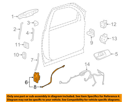 GM OEM Front Door-Lock Actuator Motor 25876383