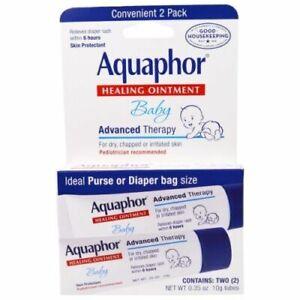 Aquaphor, Bébé, Guérison Pommade, Peau Protecteur, 2 Tubes, 0.35 Oz (environ 9.92 G) (10 G) Chaque-afficher Le Titre D'origine