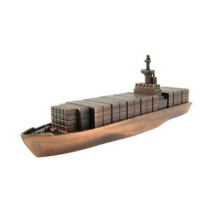 Bronze Metal Container Cargo Ship Replica Die Cast Novelty Toy Pencil Sharpener