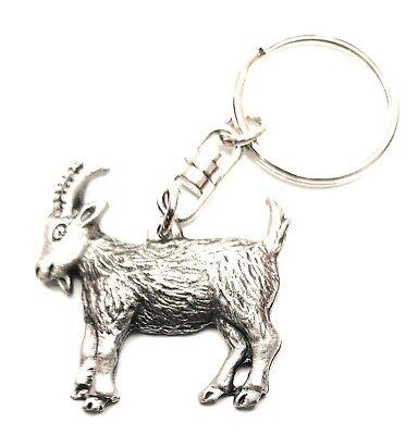 Goat Keychain Pewter