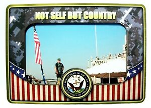 United States Navy Not Self But Country Picture Frame Fridge Magnet Ebay