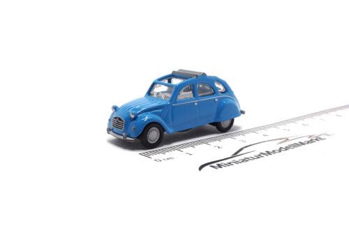 #452632500 - Schuco Citroën 2 CV mit geöffnetem Verdeck - blau (26325) - 1:87