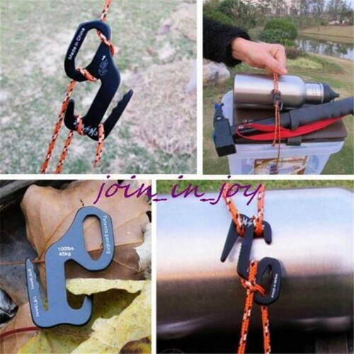 9 Rope Tightener Tie Down Tool Aluminum Alloy Camping Tent Cord Buckle mRMah