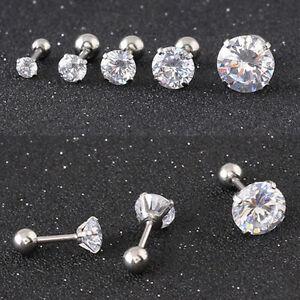 Four-claws-Cubic-Zirconia-Stud-Earrings-Titanium-steel-Tragus-Ear-studs-E108