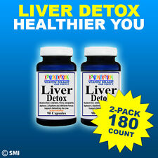 2 Pack Herbal Liver Detox Cleanser-Remove Toxins Naturally-High Quality 180Caps