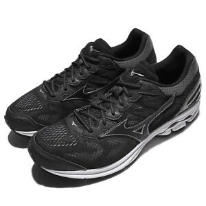 Mizuno-Wave-Rider-21-Black-White-Men-Running-Shoes-Sneakers-Trainers-J1GC18-0309
